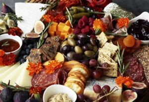 Meat, Cheese, Fruit Platter