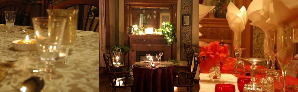 3 examples of private dining set up